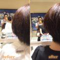 髪のお悩み  まとまらない原因はすかれすぎ?すかれすぎた髪を直していく過程 。広がる、膨らむ毛質をショートにできますか?